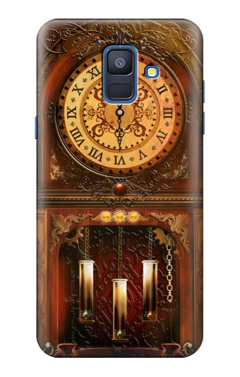 Printed Grandfather Clock Samsung Galaxy A6 (2018) Case