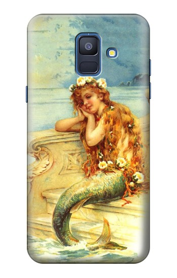 Printed Little Mermaid Painting Samsung Galaxy A6 (2018) Case