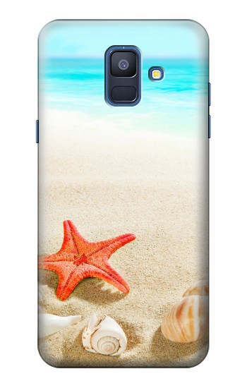 Printed Sea Shells Starfish Beach Samsung Galaxy A6 (2018) Case