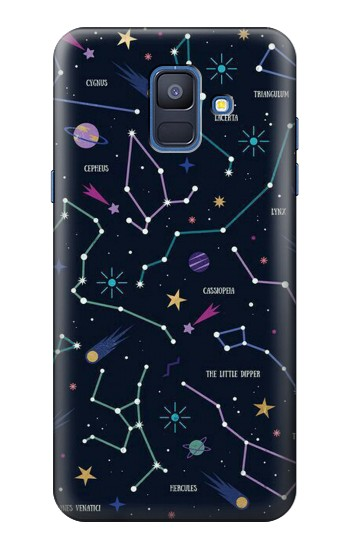 Printed Star Map Zodiac Constellations Samsung Galaxy A6 (2018) Case