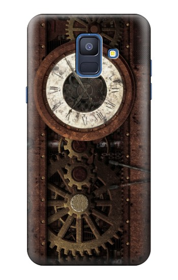 Printed Steampunk Clock Gears Samsung Galaxy A6 (2018) Case