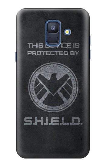 Printed This Device is Protected by Shield Samsung Galaxy A6 (2018) Case