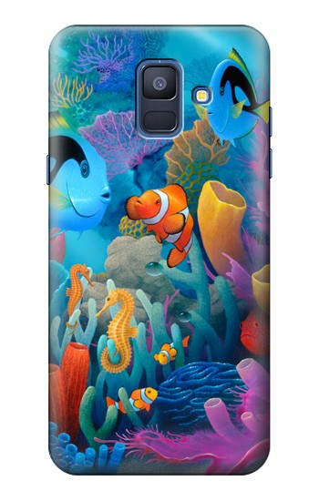 Printed Underwater World Cartoon Samsung Galaxy A6 (2018) Case