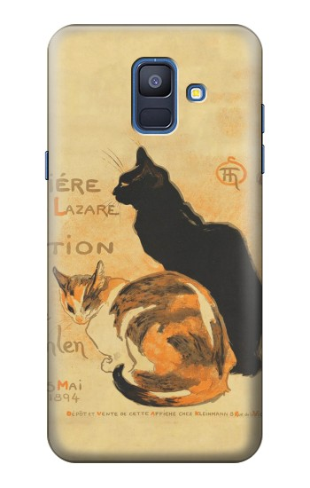 Printed Vintage Cat Poster Samsung Galaxy A6 (2018) Case