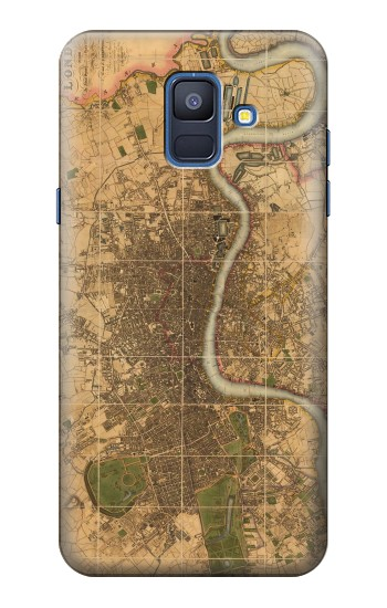 Printed Vintage Map of London Samsung Galaxy A6 (2018) Case