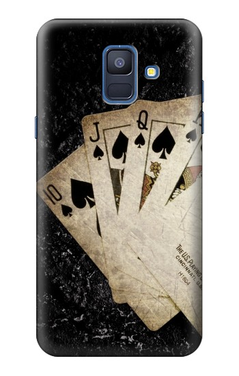Printed Vintage Royal Straight Flush Cards Samsung Galaxy A6 (2018) Case