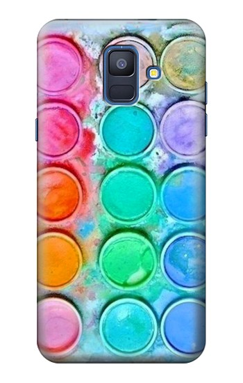 Printed Watercolor Mixing Samsung Galaxy A6 (2018) Case