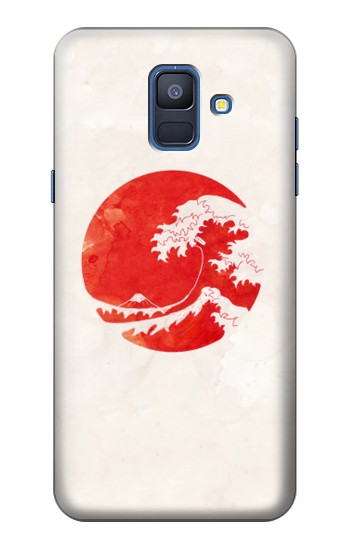 Printed Waves Japan Flag Samsung Galaxy A6 (2018) Case
