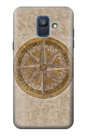 Printed Windrose Circle Stamp Samsung Galaxy A6 (2018) Case