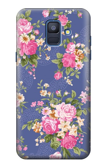 Printed Vintage Flower Pattern Samsung Galaxy A6 (2018) Case