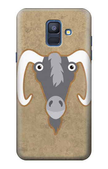 Printed Goat Cartoon Samsung Galaxy A6 (2018) Case