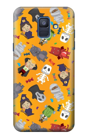 Printed Cute Halloween Cartoon Pattern Samsung Galaxy A6 (2018) Case