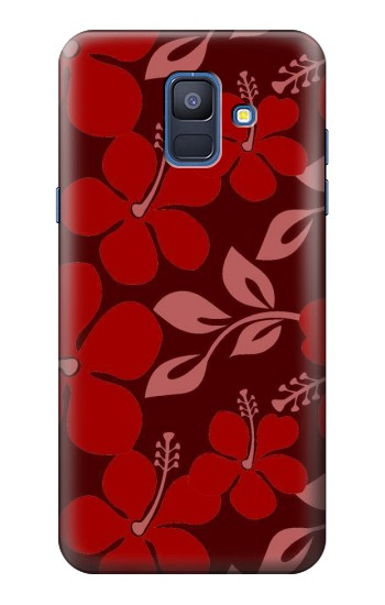 Printed Hawaii Dark Red Pattern Samsung Galaxy A6 (2018) Case