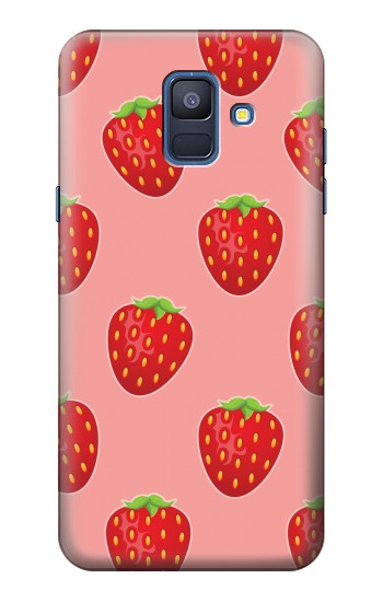 Printed Strawberry Fruit Pattern Samsung Galaxy A6 (2018) Case