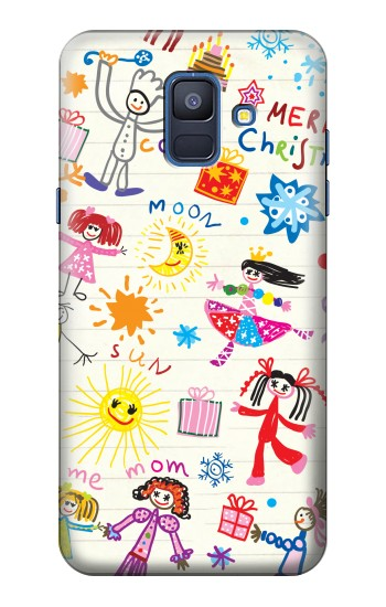 Printed Kids Drawing Samsung Galaxy A6 (2018) Case
