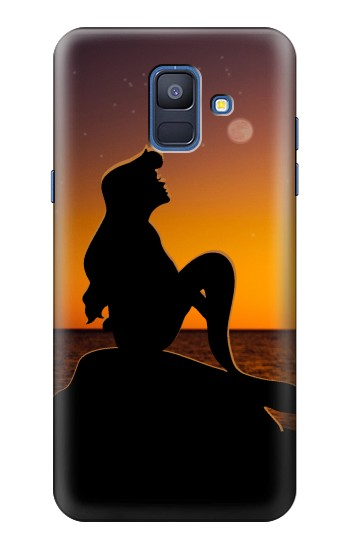Printed Mermaid Sunset Samsung Galaxy A6 (2018) Case
