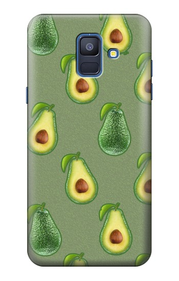 Printed Avocado Fruit Pattern Samsung Galaxy A6 (2018) Case
