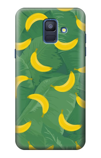 Printed Banana Fruit Pattern Samsung Galaxy A6 (2018) Case