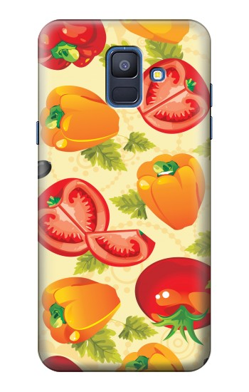 Printed Seamless Food Vegetable Samsung Galaxy A6 (2018) Case