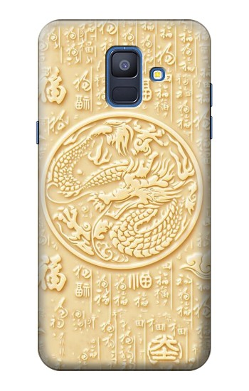 Printed White Jade Dragon Samsung Galaxy A6 (2018) Case