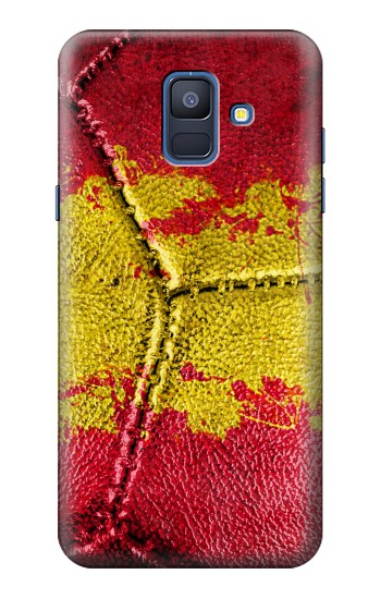 Printed Spain Flag Vintage Football 2018 Samsung Galaxy A6 (2018) Case