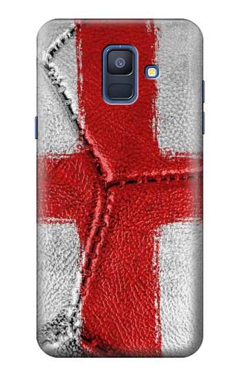 Printed England Flag Vintage Football 2018 Samsung Galaxy A6 (2018) Case