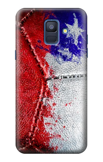 Printed Chile Flag Vintage Football 2018 Samsung Galaxy A6 (2018) Case
