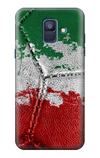 Printed Italy Flag Vintage Football 2018 Samsung Galaxy A6 (2018) Case