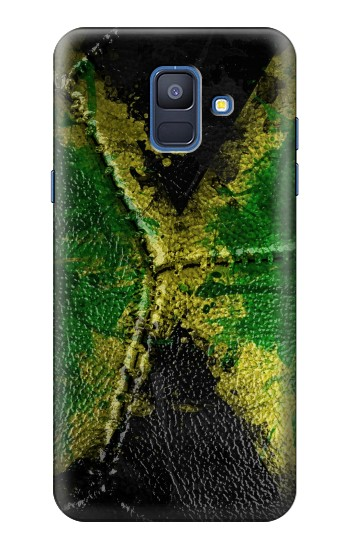 Printed Jamaica Flag Vintage Football 2018 Samsung Galaxy A6 (2018) Case