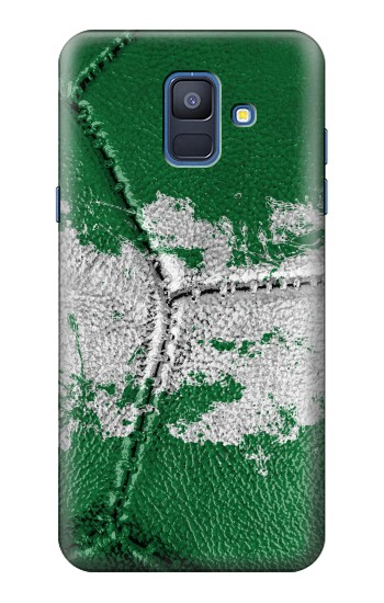 Printed Nigeria Flag Vintage Football 2018 Samsung Galaxy A6 (2018) Case
