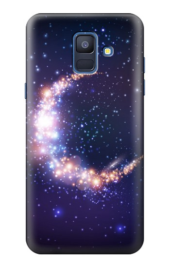 Printed Crescent Moon Galaxy Samsung Galaxy A6 (2018) Case