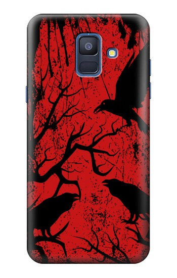 Printed Crow Black Tree Samsung Galaxy A6 (2018) Case