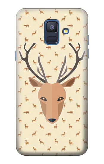 Printed Deer Pattern Samsung Galaxy A6 (2018) Case