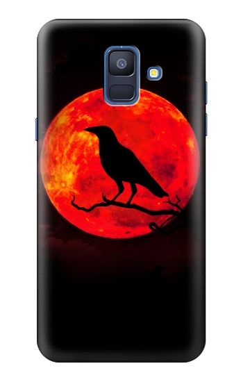 Printed Crow Red Moon Samsung Galaxy A6 (2018) Case