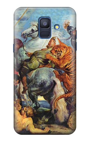 Printed Peter Paul Rubens Tiger und Lowenjagd Samsung Galaxy A6 (2018) Case