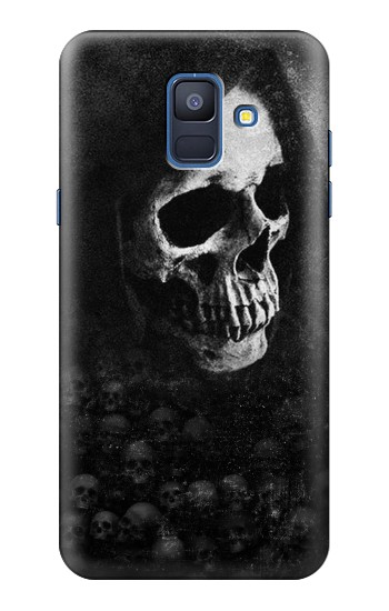 Printed Death Skull Samsung Galaxy A6 (2018) Case