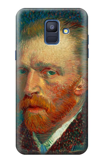 Printed Vincent Van Gogh Self Portrait Samsung Galaxy A6 (2018) Case