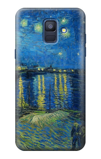 Printed Van Gogh Starry Night Over Rhone Samsung Galaxy A6 (2018) Case