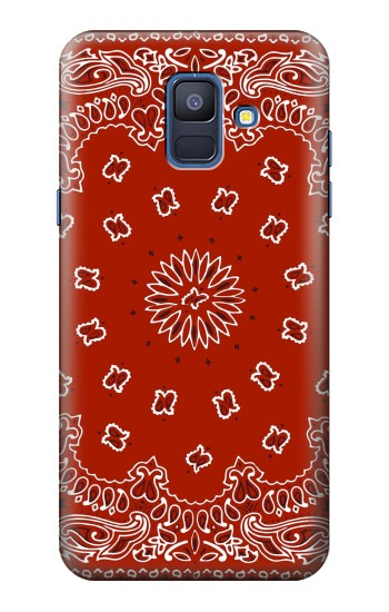 Printed Bandana Red Pattern Samsung Galaxy A6 (2018) Case