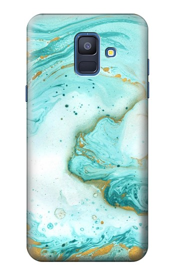 Printed Green Marble Graphic Print Samsung Galaxy A6 (2018) Case