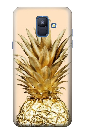 Printed Gold Pineapple Samsung Galaxy A6 (2018) Case