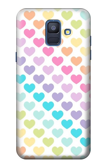 Printed Colorful Heart Pattern Samsung Galaxy A6 (2018) Case