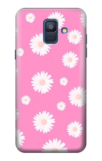 Printed Pink Floral Pattern Samsung Galaxy A6 (2018) Case
