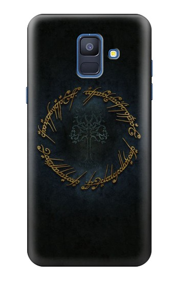 Printed Lord of The Rings Ring Elf Writing Samsung Galaxy A6 (2018) Case
