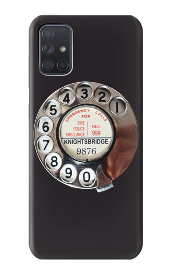 Printed Retro Rotary Phone Dial On Samsung Galaxy A71 Case