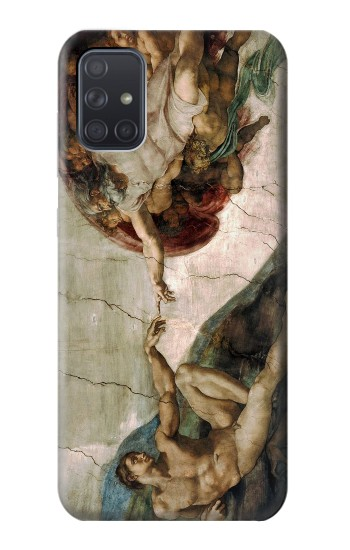 Printed Michelangelo The creation of Adam Samsung Galaxy A71 Case