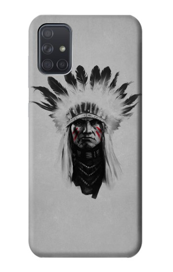 Printed Indian Chief Samsung Galaxy A71 Case