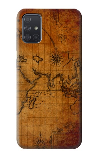 Printed Old Map Samsung Galaxy A71 Case