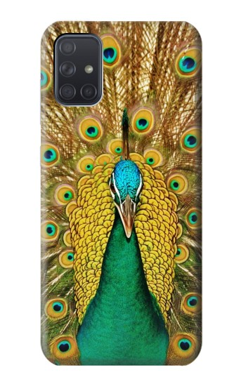 Printed Peacock Samsung Galaxy A71 Case
