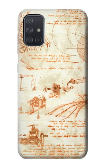 Printed Technical Drawing Da Vinci Samsung Galaxy A71 Case